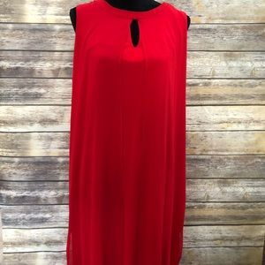 Emma & Michele Red Tunic Style Dress sz. XL